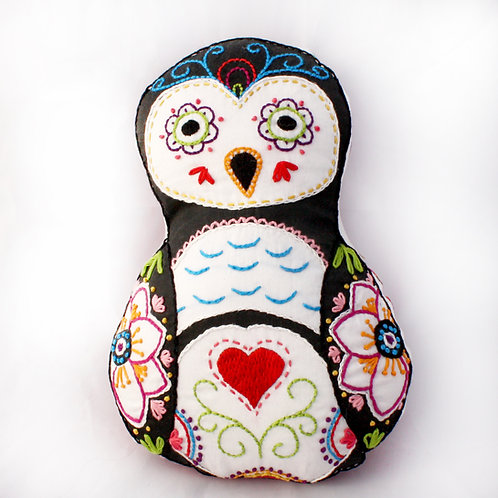 Day of the Dead Owl Sewing Kit