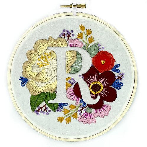 Hoopla Monogram Stitching Embroidery Kit