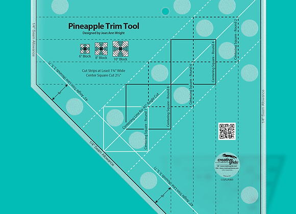 Creative Grid Ruler - Pineapple Trim Tool for 6, 8 or 10in Finished Blocks
