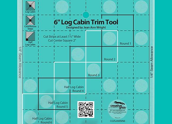 Creative Grid Ruler - 6in Log Cabin Trim Tool Quilt