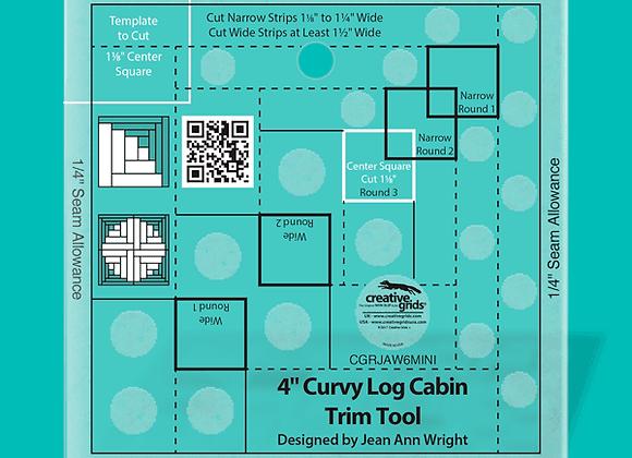 Creative Grid Ruler - 4in Curvy Log Cabin Trim Tool