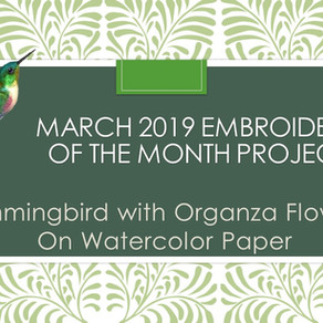 March 2019 Embroidery of the Month Project