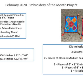 February 2020 Embroidery of the Month Project