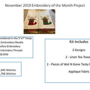 November 2019 Embroidery of the Month Project