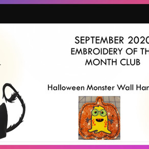 September 2020 Embroidery of the Month Club Project - Halloween Monster Wall Hanging