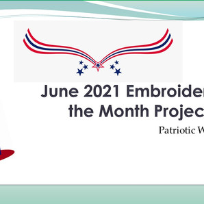 June 2021 Embroidery of the Month Project - Patriotic Hanger