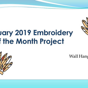 January 2019 Embroidery of the Month Project