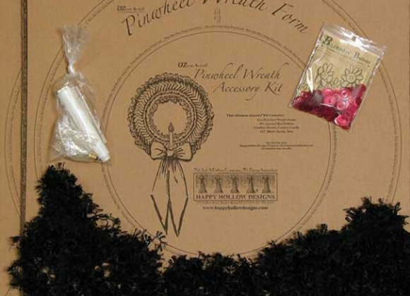 Happy Hallow Designs - Pinwheel Holly Wreath Pattern Pak Plus