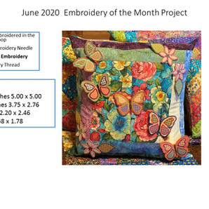 June 2020 Embroidery of the Month Project