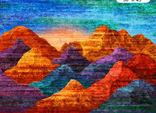 Mountain Vista Sunset Fabric Kit & Pattern