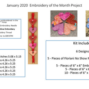 January 2020 Embroidery of the Month Project
