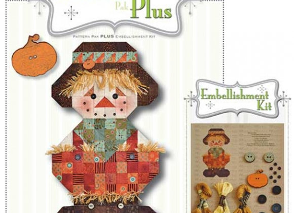 Happy Hallow Designs - Roly Poly Scarecrow Pattern Pak Plus