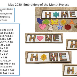 May 2020 Embroidery of the Month Instructional Video