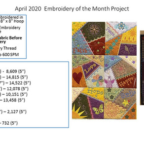 April 2020 Embroidery of the Month Project