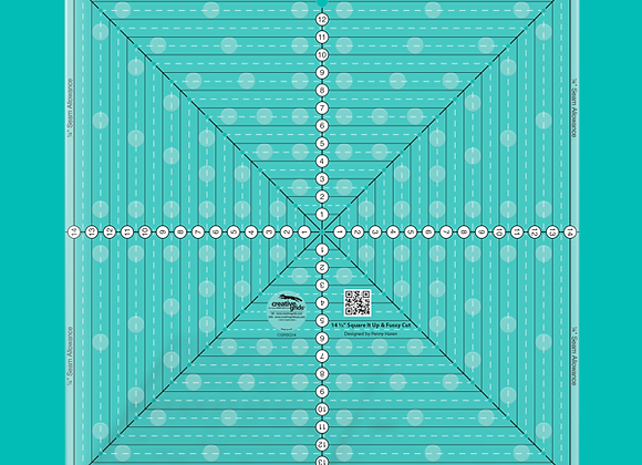 Creative Grid Ruler - 4-1/2in Square It Up or Fussy Cut Square Quilt