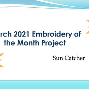March 2021 Embroidery of the Month Project - Sun catcher