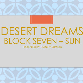 Desert Dreams Digitizing Class - Block Seven Sun