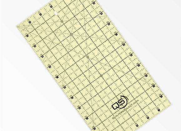 """Quilters Select Non Slip Ruler 6""""x12"""""""