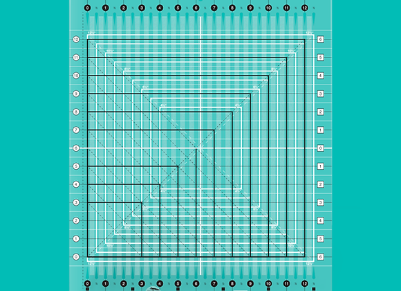 Creative Grid Ruler - Stripology Squared Quilt