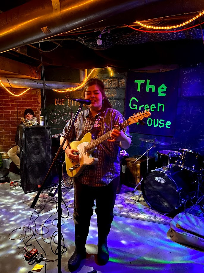 Hopie Joe performing at the Green House