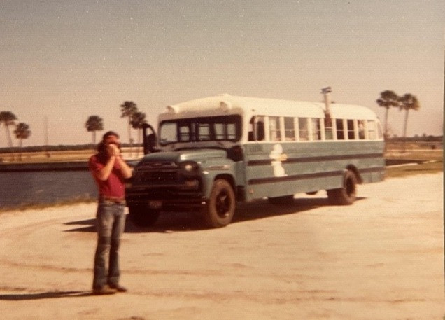 Snoopy, the bus my dad and a bud lived in for several months