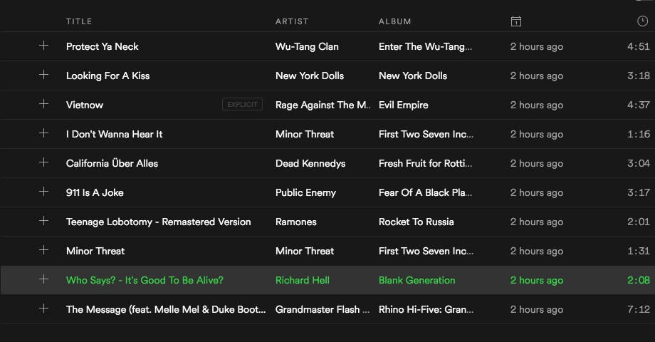 Dissatisfaction - Music Director Playlist of the Month