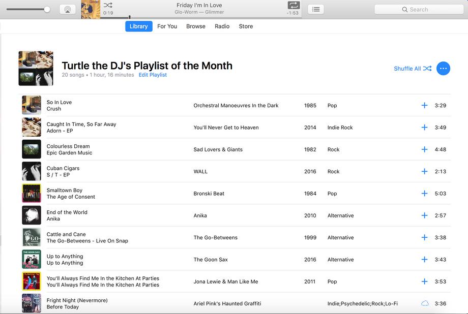 WIDR's DJ Playlist of the Month