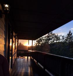 Deck at sunset