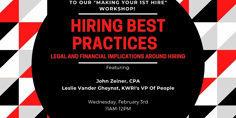 Making Your 1st Hire