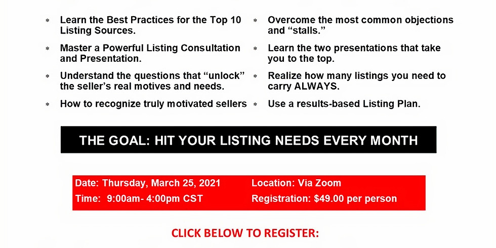 Listing Clinic with Gene Rivers