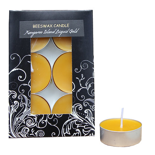 Tealight Beeswax Candles - 6 Pack