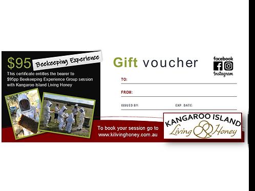 Gift voucher $95pp Beekeeping Experience Public
