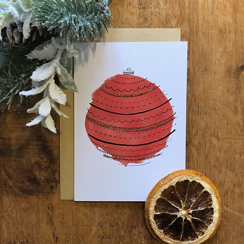 Red Bauble Card