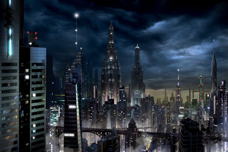 Futuristic City Backdrop