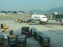 リアルタイム♪関西空港KIX~中国・香港国際空港HKGのハンドキャリー 香港到着