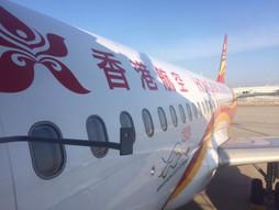 関西空港KIX~中国・香港国際空港HKG〜成田国際空港NRTのハンドキャリー 往路編