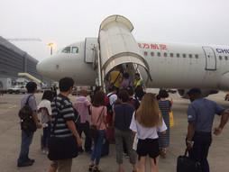 中国・大連周水子国際空港DLC〜中国・上海国際空港PVG~関西空港KIXのハンドキャリー 帰国編
