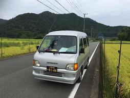 《軽四輪車の緊急配送》すろ〜らいふ♪京都府福知山の田園風景