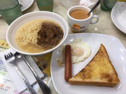 《海外国際ハンドキャリー》すろ〜らいふ♪香港早餐 美味 31香港ドル☕️