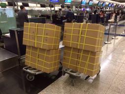 関西空港KIX~中国・香港国際空港HKG〜羽田空港HNDのハンドキャリー 3往復目の現地滞在編