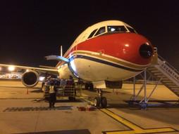 関西空港KIX~中国・北京首都国際空港PEK~福岡空港FUKのハンドキャリー 往路編