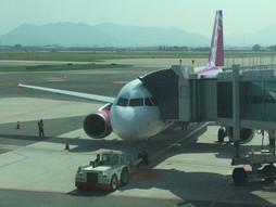 関西空港KIX~韓国・(釜山)金海国際空港PUSのハンドキャリー 帰国編
