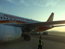 関西空港KIX~中国・香港国際空港HKG〜成田国際空港NRTのハンドキャリー 復路編