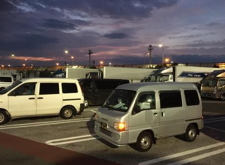 《軽四輪車の緊急配送》すろ〜らいふ♪京都桂川PAの夜明け前