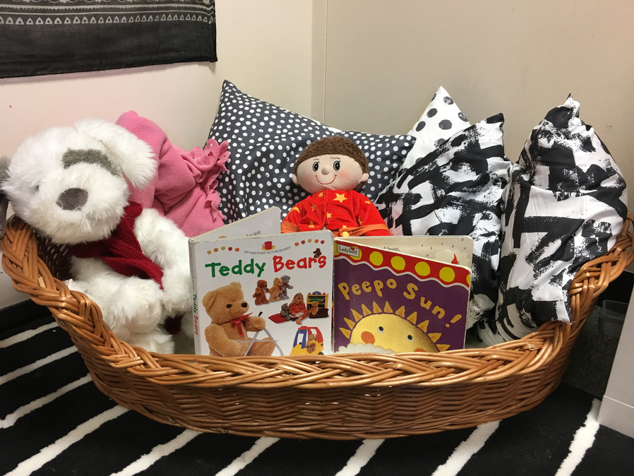 Baby reading basket