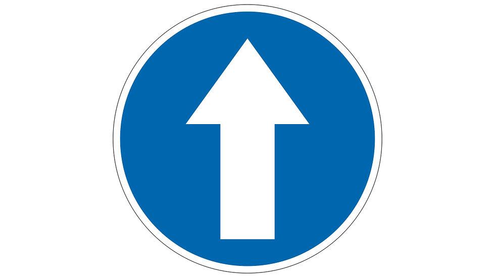 Social distance floor arrow graphic (IP039 & IP040)