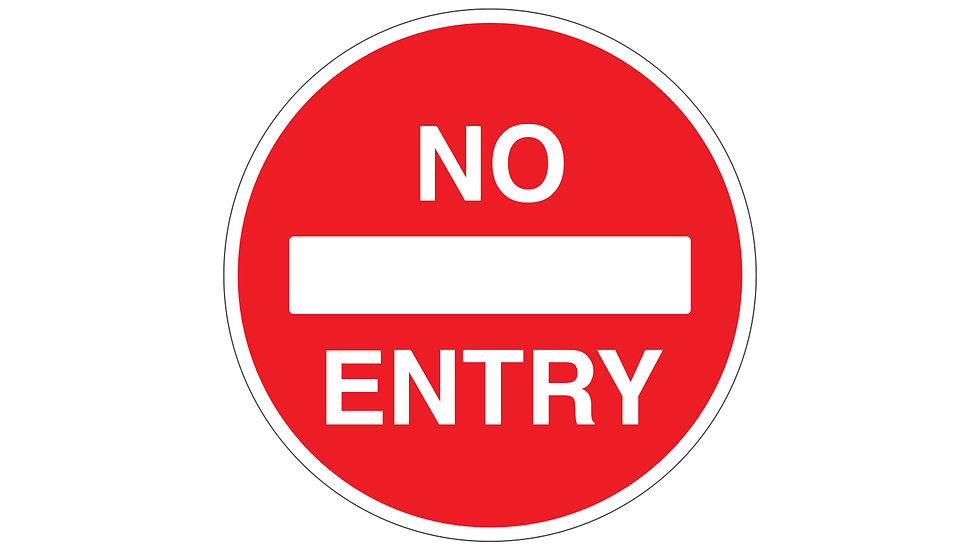 Social distance no entry floor graphic (IP041)