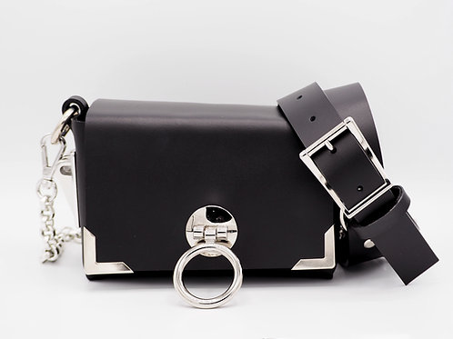 MINI CLUTCH BLACK LEATHER