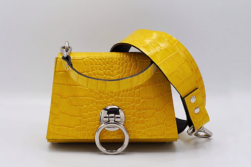 THE EXTENDED MINI 2.0 - BUMBLEBEE CROC LEATHER