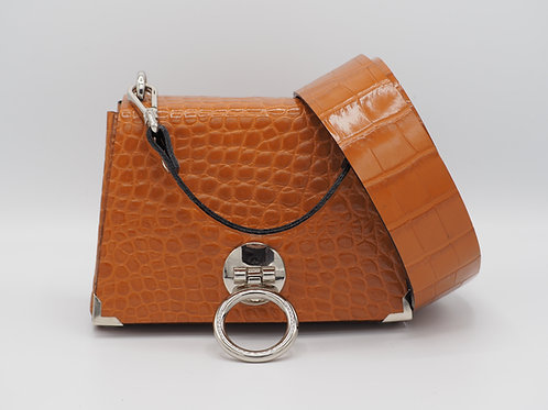 THE EXTENDED MINI 2.0 - CARAMEL CROC LEATHER